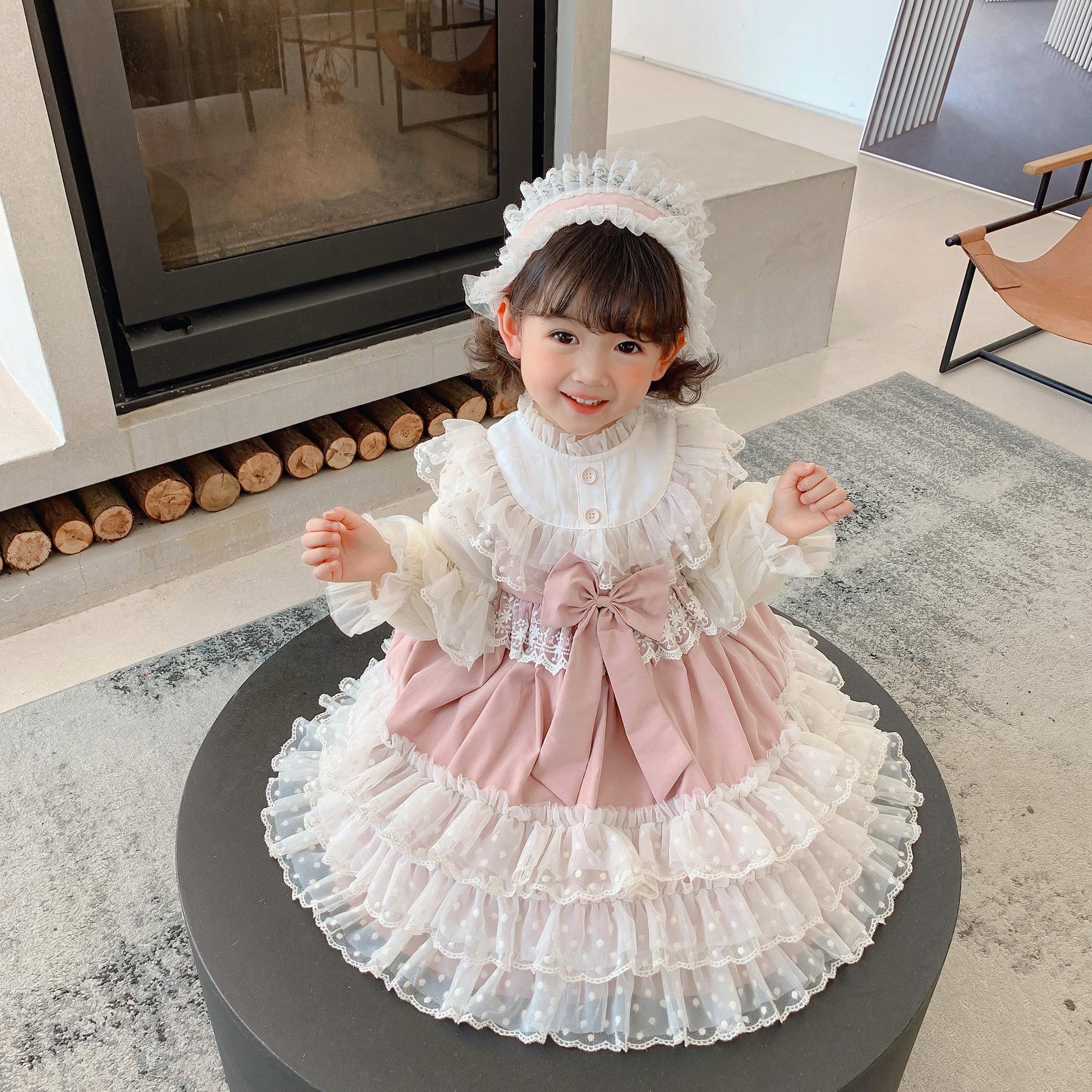 Childrens Lolita spring princess dress childrens Lolita baby full year dress girls Lolita Dress