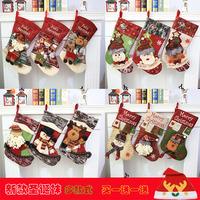 Новая коллекция Рождественские носки Подарочная сумка Старый мужчина Большой конфеты Подарочная сумка Рождественская елка Украшение Подвеска