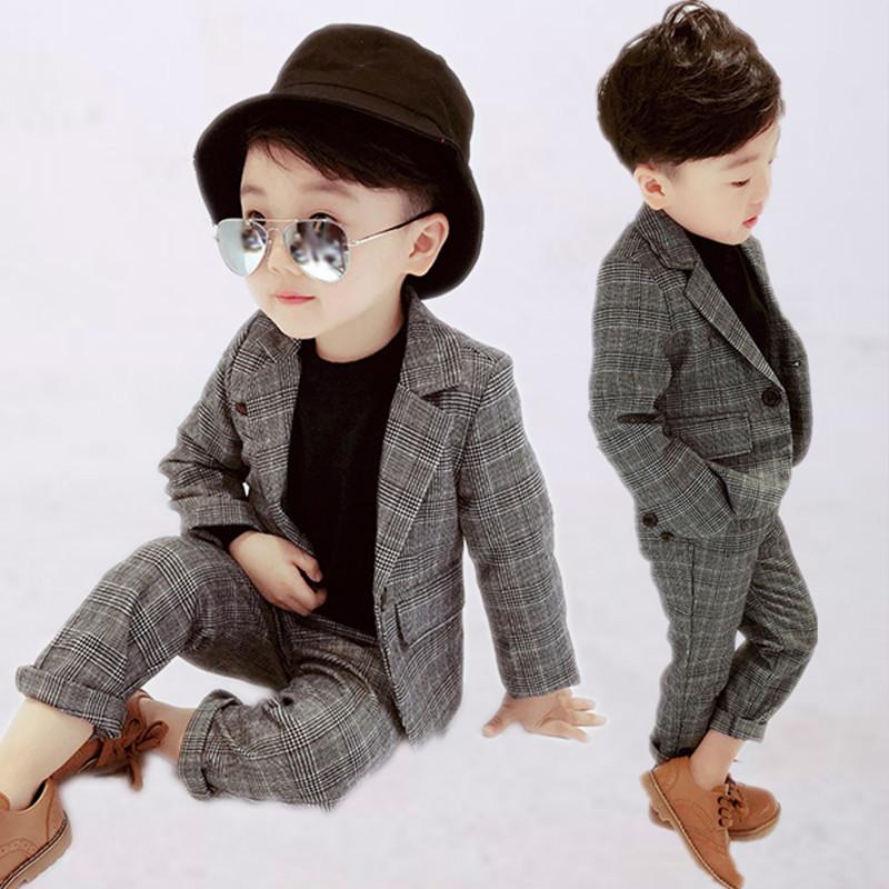 2男童礼服英伦小西装3儿童绅士马甲4男孩西服外套5秋冬7花童套装