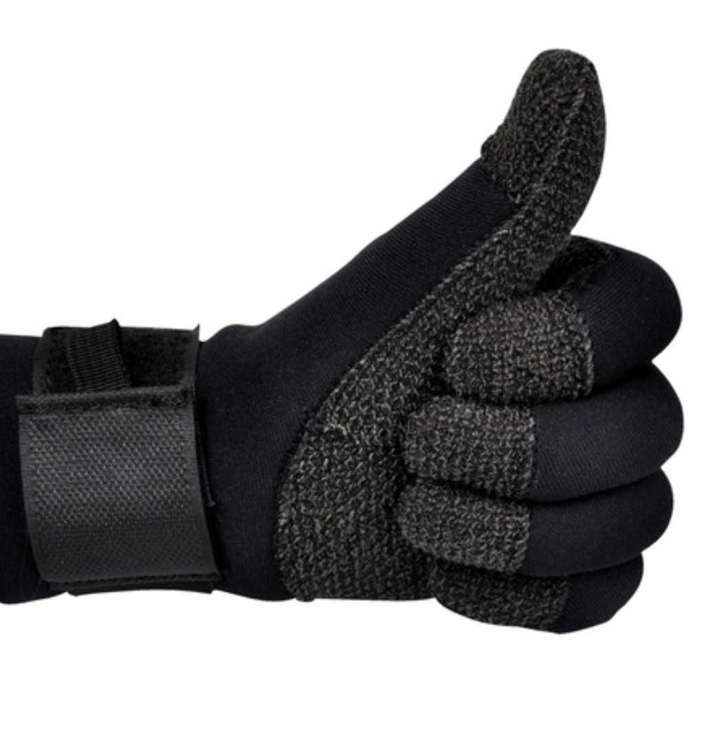 Импортированный дайвинг кевлара перчатки 3 мм / 5 мм износостойкий водонепроницаемый Изоляция и стойкая к износу носовая трубка темно Подводный огонь