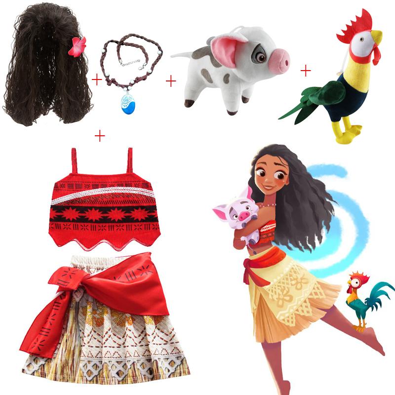 儿童海洋奇缘莫安娜女童连衣裙moana莫阿娜裙子外贸服装童装玩具