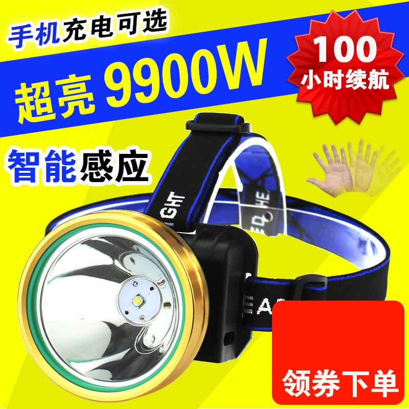 LED头灯充电电灯头戴式头灯强光带头上的手电筒超亮带在头上的灯21.08元包邮