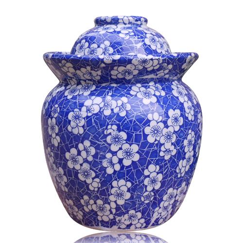 包郵 8斤景德鎮陶瓷泡菜壇子密封罐醃肉醃菜壇醃鹹蛋青花儲物罐