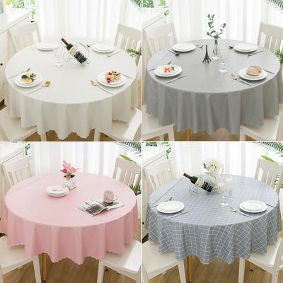 网红桌布布艺防水防油免洗大圆桌茶几餐桌布圆形家用塑料pvc 桌垫