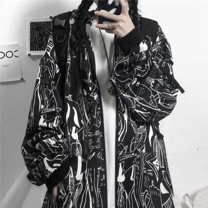 mapogo暗黑系ins街头暗黑抽象卫衣