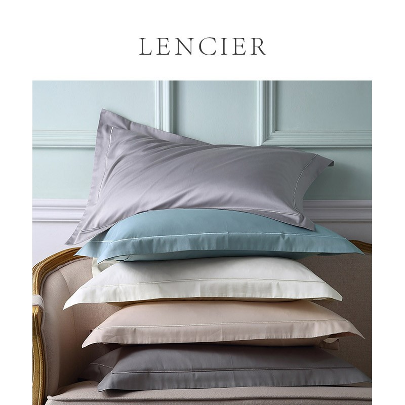 Lencier Lanxu is very comfortable to sleep. Pure Nordic style pure cotton double pillow case and pillow case