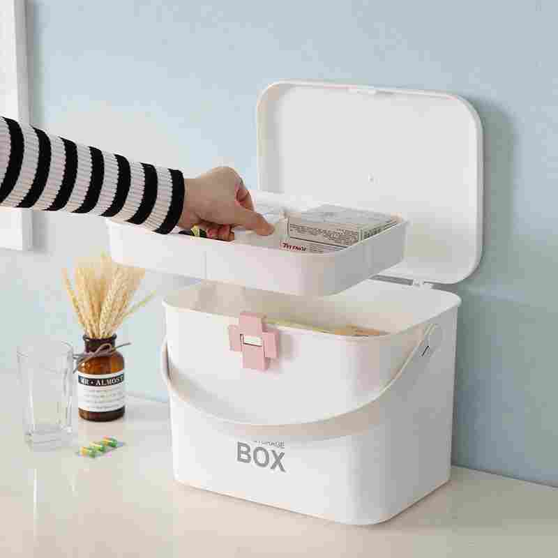Household products 19 new household medicine box multi layer portable first aid box fashion plastic medicine box