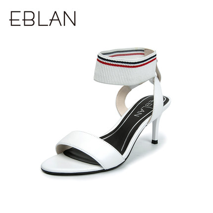 Simple ankle set with open toe high heels womens b9312712