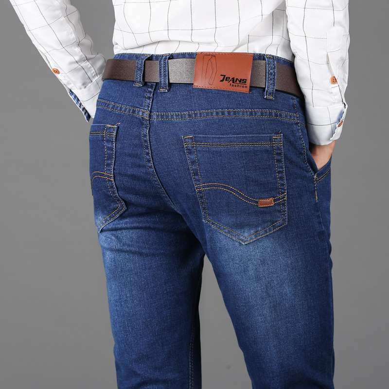 Mens jeans loose fit straight jeans mens super large stretch mens pants factory direct sales