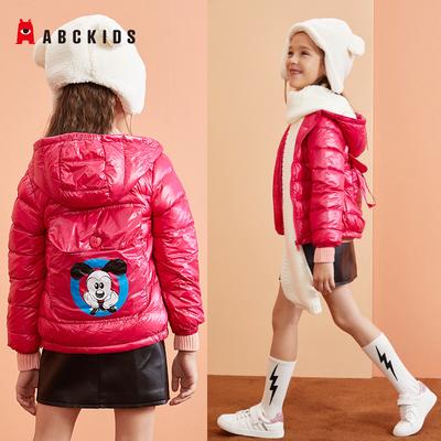 abckids童装 冬款儿童羽绒服女童男宝宝羽绒服内胆轻短款保暖外套