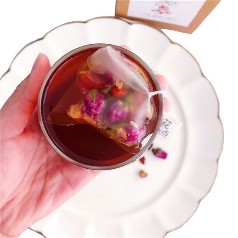粉颜茶 玫瑰红枣红糖茶 花草茶 养生少女必备 10包,可领取3元天猫优惠券
