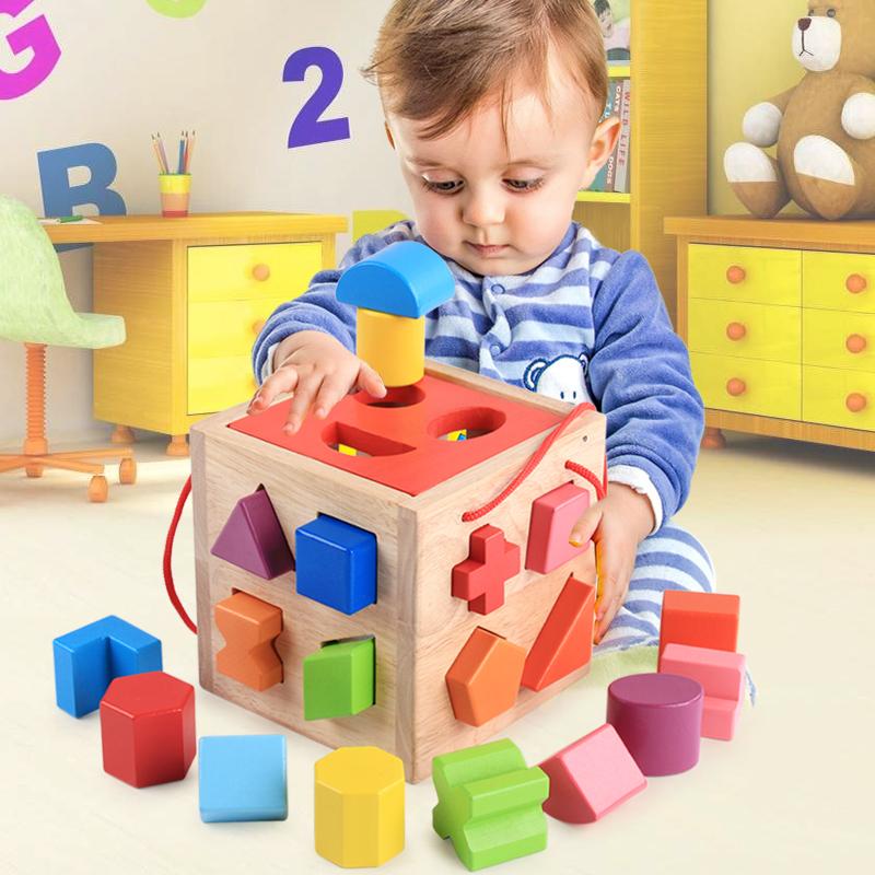 Младенец ребенок ребенок собранный строительные блоки одна неделя полтора года мужской ребенок головоломка сила игрушка 0-1-2-3 лет обучения в раннем возрасте девушка