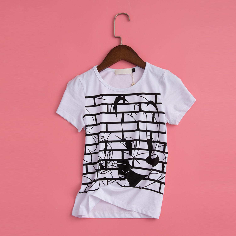 18夏款 猫和老鼠 男童装 卡通积木修饰T恤上衣 66205018