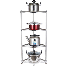 Dapai House 304 stainless steel kitchen triangle rack corner frame put pot shelf storage supplies landing multi-storey