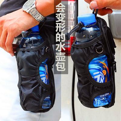 Kettle bag slung portable waist hanging water bottle bag beverage mineral water bottle hanging waist folding external backpack water cup bag