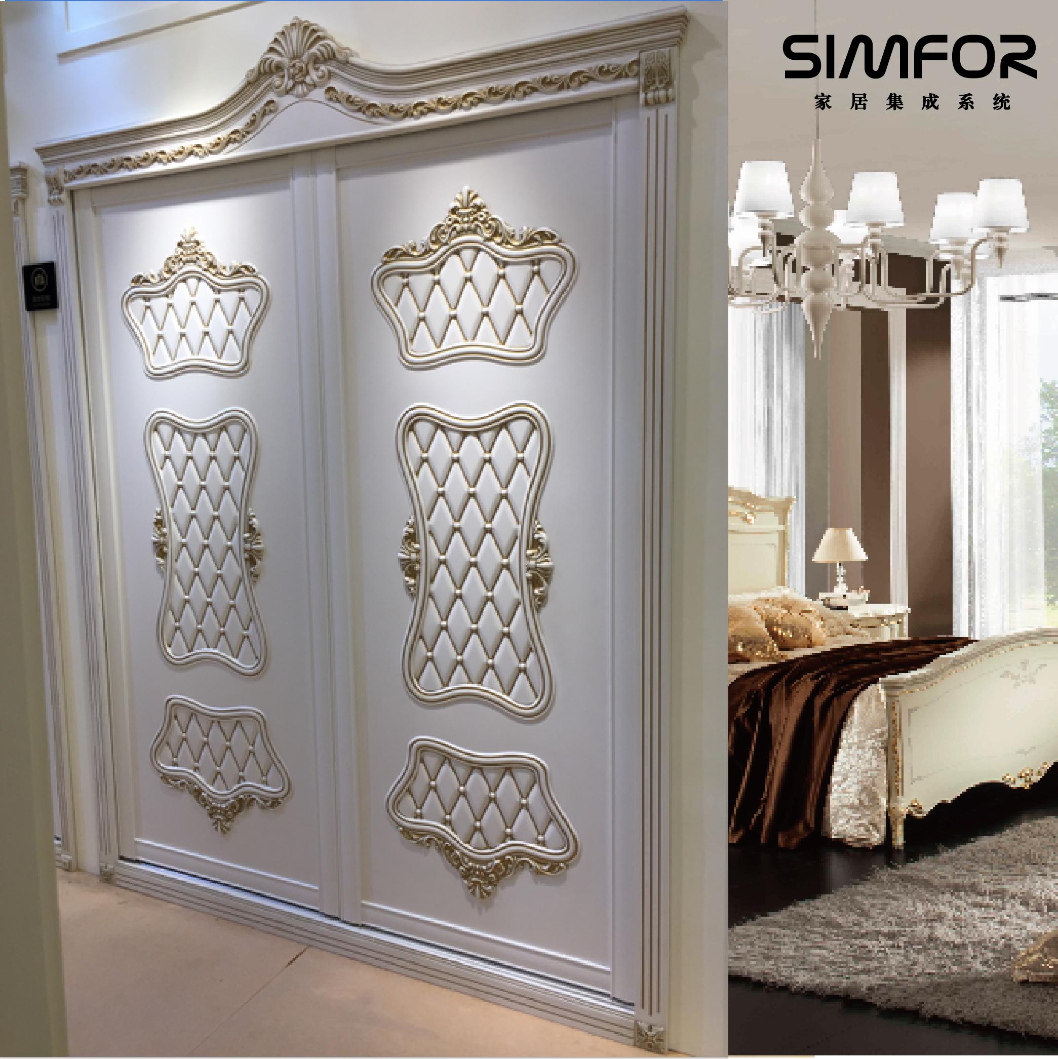 Европейская смена дверь гардероб дверь Пользовательские резные мягкие пакет Алмазный инкрустированный шкаф дверь