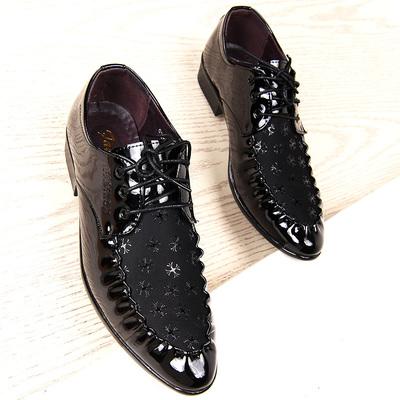 春秋男士尖头皮鞋英伦流行商务休闲男鞋韩版时尚潮流个性鞋子青年