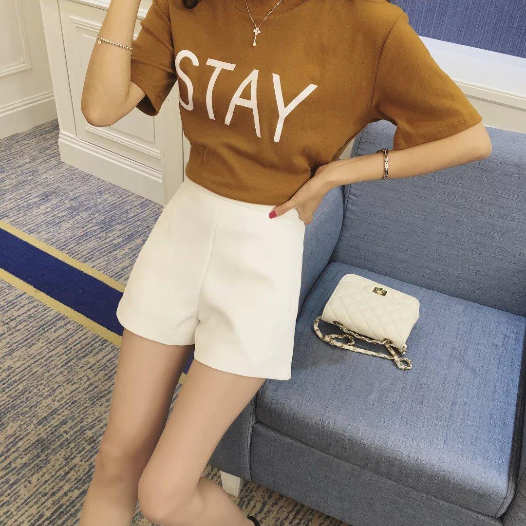 16 летняя Корейский женский Джокер новый стильный сплошной цвет шорты высокой талией брюки для похудения для похудения горячие брюки