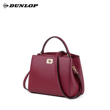 Dunlop lady bag genuine leather bag 2019 new fashion first-class cowhide handbag single shoulder oblique Bag kitten bag