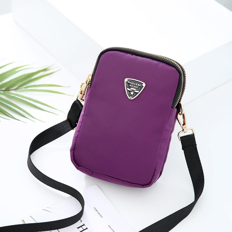 Oxford cloth mobile phone bag female messenger bag new mini small bag bag bag mother bag grandma bag zero wallet key bag