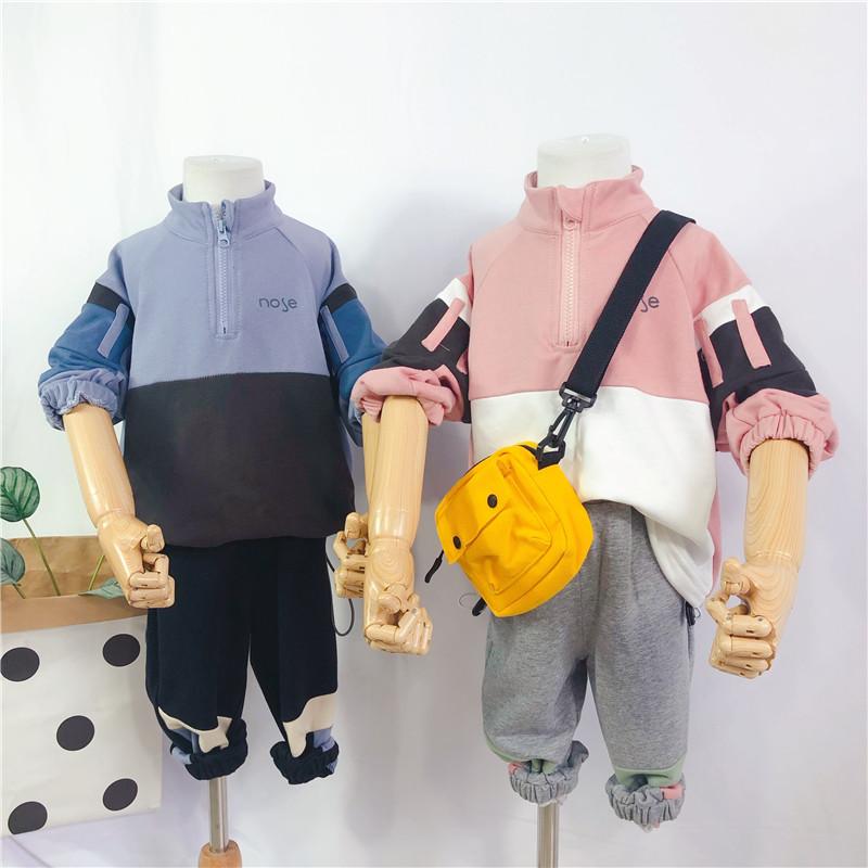 男童套装秋装2019新款儿童洋气卫衣