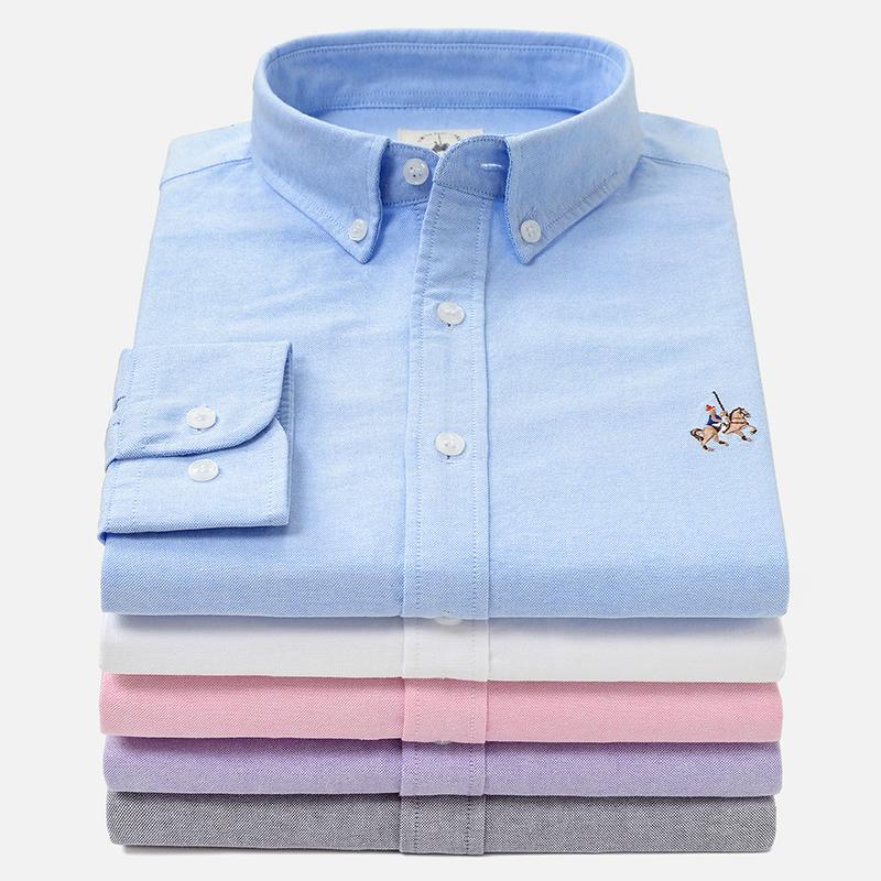 全棉水洗男衬衫