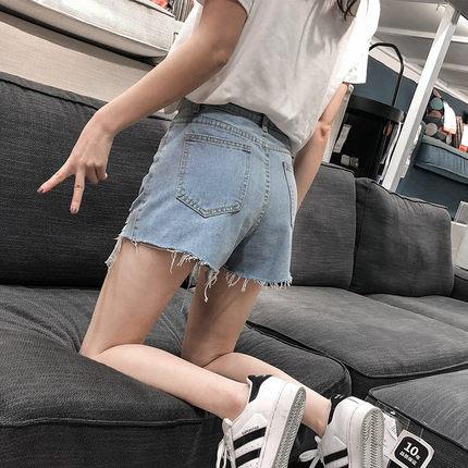 泫雅同款牛仔女夏2019新款高腰短裤