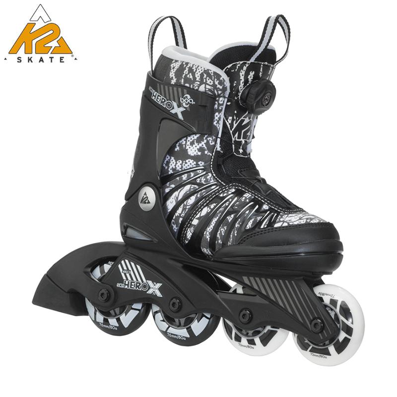 美国K2品牌 CHARM X BOA 儿童男女可调直排轮滑鞋/溜冰鞋/旱冰鞋