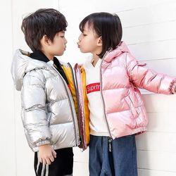 男女童羽绒服加厚儿童秋冬装白鸭绒防水棉服中大儿童洋气短款外套