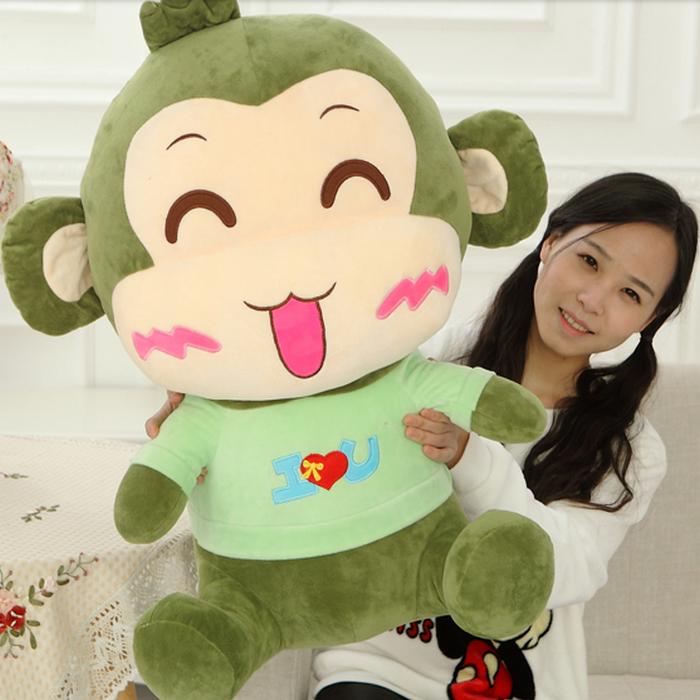 大嘴猴公仔布娃娃玩偶小猴子情�H毛�q玩具�捍餐尥抟��和���Y物