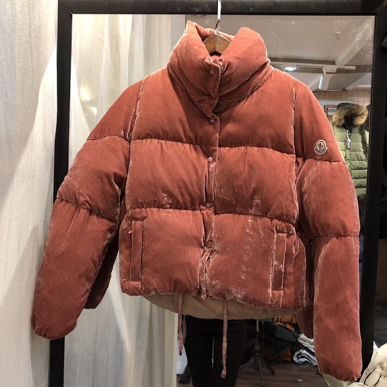 Европейская станция 2017 зимние новые бархат короткая куртка утолщение корейский холодный хлеб платье розовый