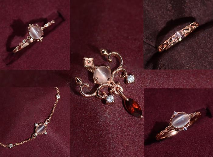 [specimen leakage] rare natural Sri Lanka gem moonlight stone cats Eye Silver Ring Pendant
