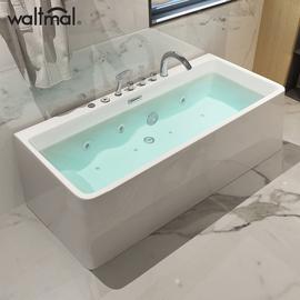 沃特玛 浴缸家用成人冲浪按摩恒温欧式亚克力卫生间浴盆1.4-1.7米图片