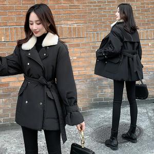 實拍現貨棉服外套女2019冬季新款韓版收腰顯瘦棉衣