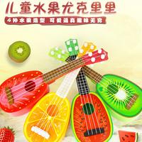 Ребенок игрушка фрукты гитара особенно керри в моделирование четыре аккорд может бомба играть музыкальные инструменты головоломка игрушка 1-6 лет подарок