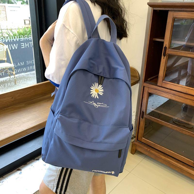 小雏菊书包女学生韩版初中生高中校园风背包双肩包女网红大容量