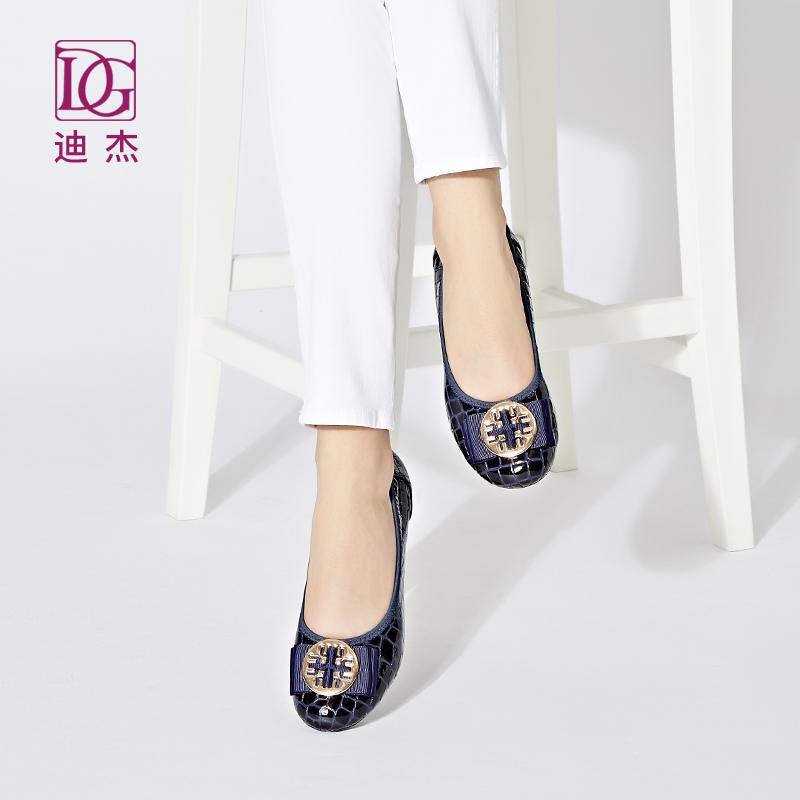 10月24日最新优惠浅口dg2019春季真皮软底内增高单鞋