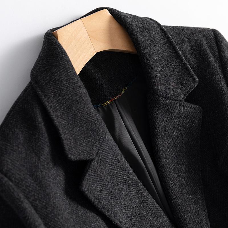 高精级别 日本代工厂牛货轻奢一粒扣进口56%羊毛呢西装西服秋冬女