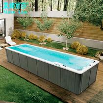 户外免安装大型游泳池无边际反冲力冲浪游泳浴缸多人运动浴缸