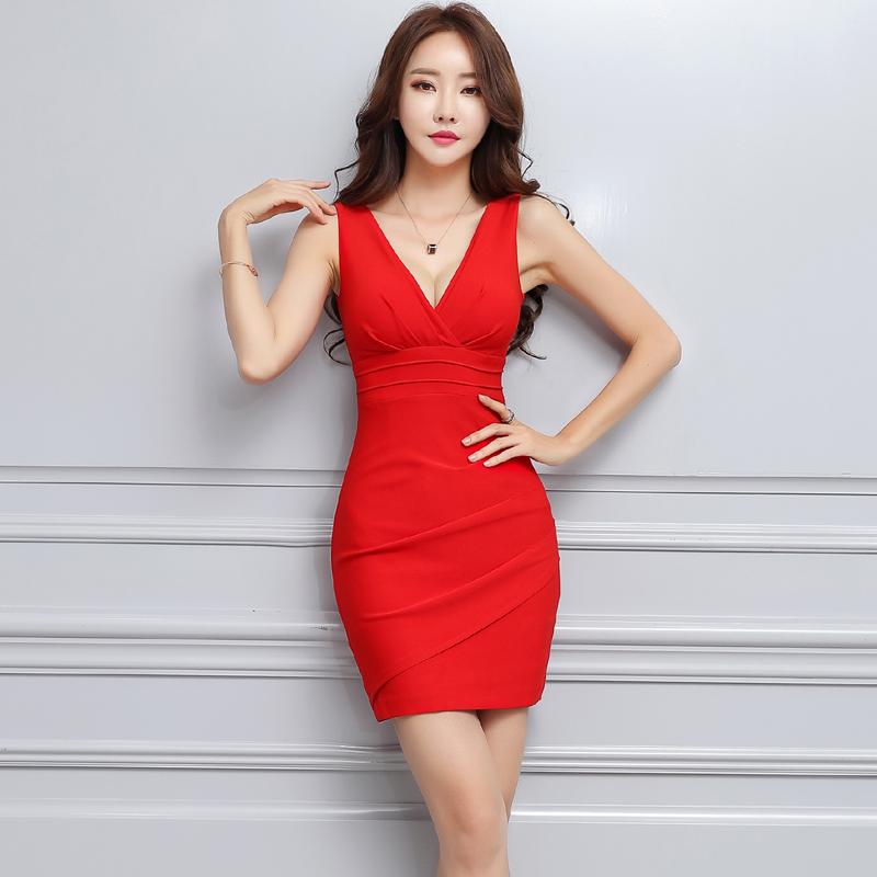 气质名媛女装高端性感连衣裙小香风收腰女人味红包臀束腰V领短裙