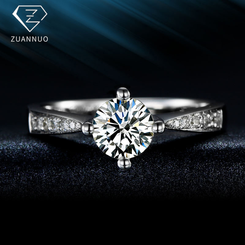 1カラットダイヤの指輪プラチナゴールドの指輪群にプラチナの指輪を嵌め込みました。