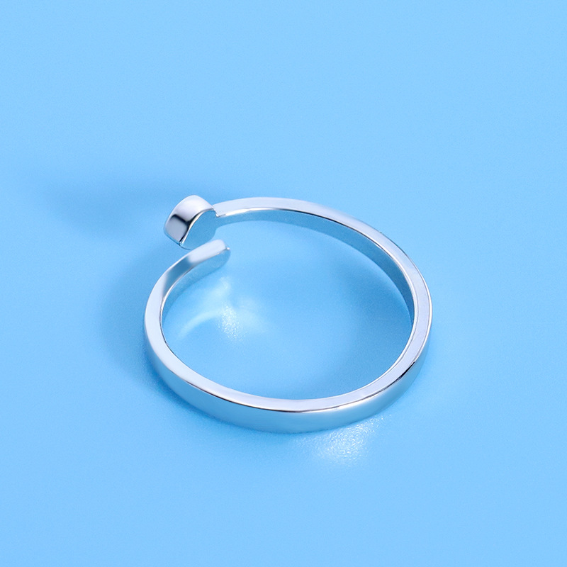 Fashion imitation sterling silver jewelry eternal Ring Heart Ring two yuan shop one womens style