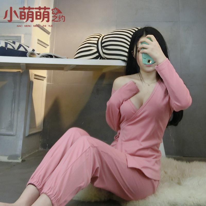 券后49.00元和服夏季长袖纯棉性感宽松哺乳睡衣