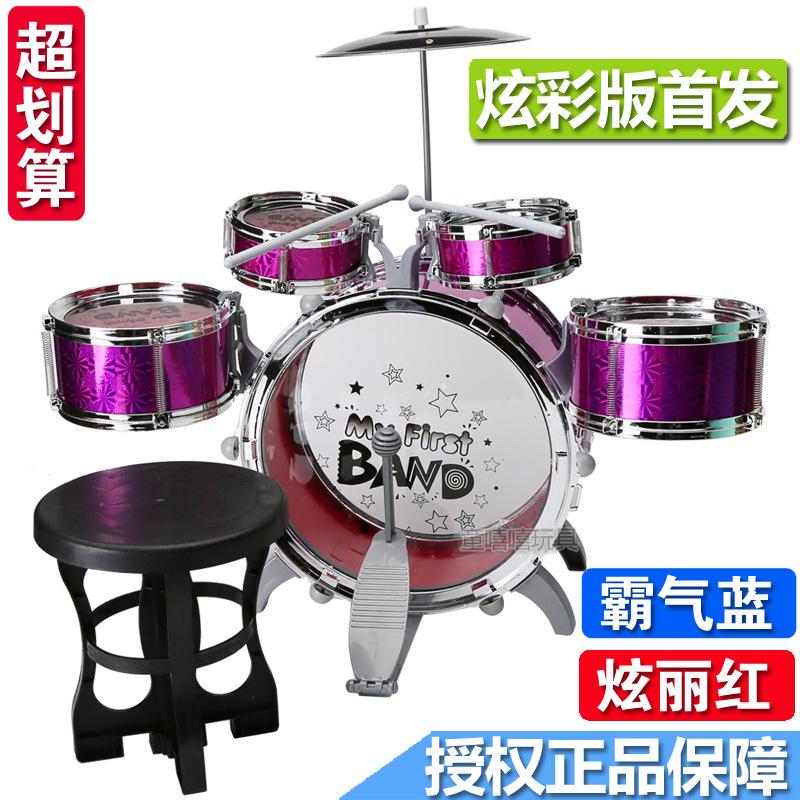 Ребенок сэр барабан полка барабан игрушка музыкальные инструменты сочетание 1-3-6 лет мальчик девушка новичок 5 месяцы барабан плюс стул