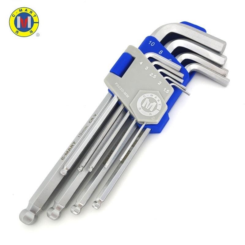 西玛内六角扳手套装组合维修工具9件套六方六棱公制L型F0020