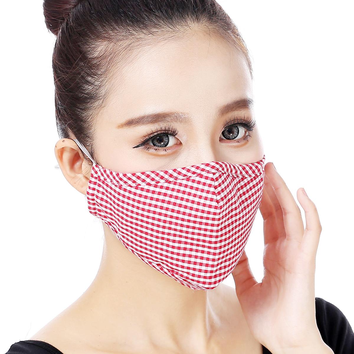 防雾霾pm2.5口罩纯棉布个性韩版女透气时尚秋冬季保暖送KN95滤片图片