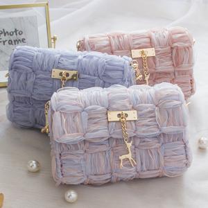 世纪美织手工编织diy材料包斜跨包
