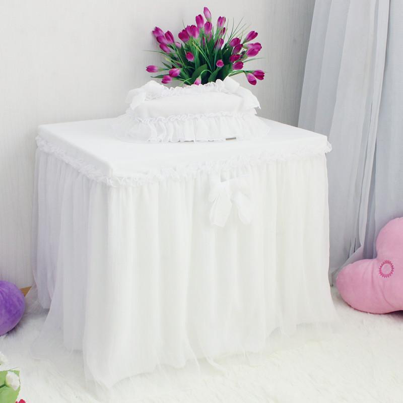 床头柜盖布 欧式 公主风美甲桌布电脑桌布鞋柜垫子盖布 床头柜罩