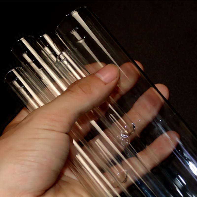 平口试管 20*200mm玻璃试管50ml 耐高温加厚 化学实验室耗材