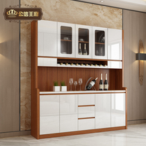 Modern Chinese lacquer dining cabinets Wine cabinet multi-function kitchen storage cabinet locker microwave cupboard Tea water cabinet
